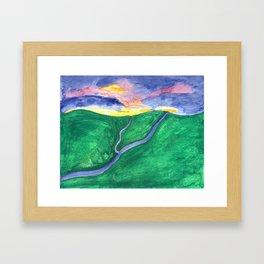 Evening Over the Valley Framed Art Print