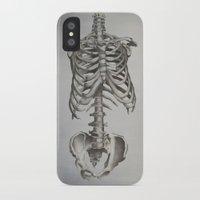 skeleton iPhone & iPod Cases featuring Skeleton by Trisha Thompson Adams