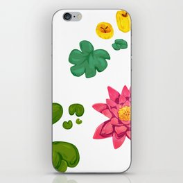 Lily pads and lilies iPhone Skin