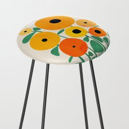 Sunflower and Bee Counter Stool