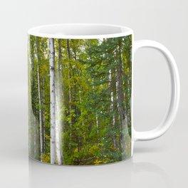 Birch Forest Hiking Coffee Mug