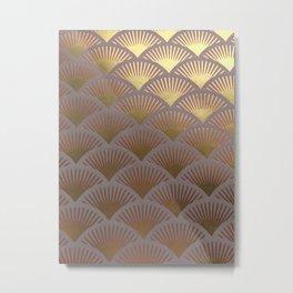 Over the golden hills Metal Print