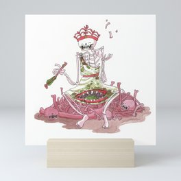 Gluttony - Skeleton - Seven sins Mini Art Print