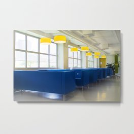 Blue Cafe Metal Print