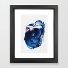 the noise of the sea Framed Art Print