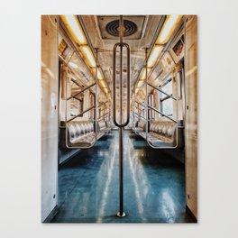Golden Subway Canvas Print