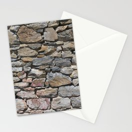 Stone wall of ghost town Stationery Cards