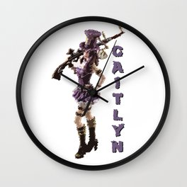 Caitlyn - League of Legends [marker sketch] Wall Clock