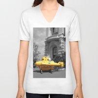 yellow submarine V-neck T-shirts featuring yellow submarine  by 33bc
