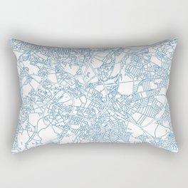 Street MAP Birmingham // Blue Rectangular Pillow