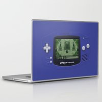 gameboy Laptop & iPad Skins featuring Classic Gameboy Zelda Link by Electra