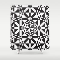 compass Shower Curtains featuring Compass by Vadeco