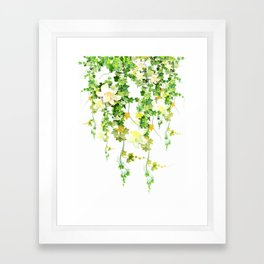 Watercolor Ivy Framed Art Print