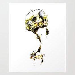 Yellow Skul Art Print