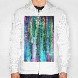Rainbow Rain - Alcohol Ink Painting Hoody