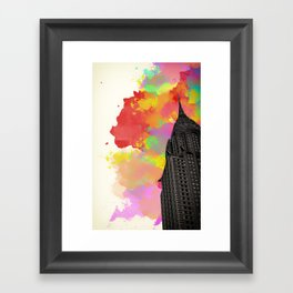 Chrysler Watercolour print Framed Art Print