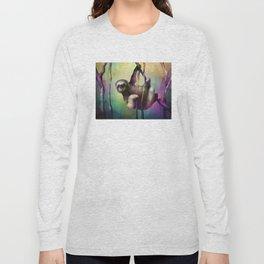 Sloth (Low Poly Multi) Long Sleeve T-shirt