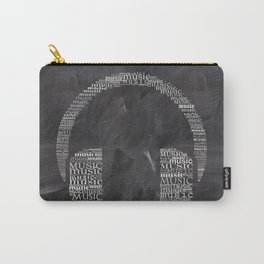 Headphone on chalkboard Carry-All Pouch