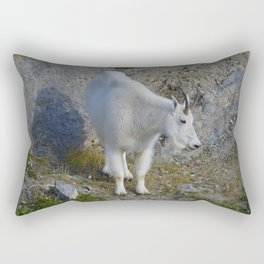 Mountain goat in the Canadian Rocky Mountains Rectangular Pillow