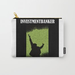 Banker Investment Banker With Flying Dollars Carry-All Pouch