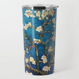 Almond Tree in Blossom - Blue Motif by Vincent van Gogh Travel Mug