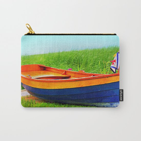 Vintage Wood Row Boat Carry-All Pouch