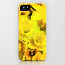 Smiley Daffodils iPhone Case
