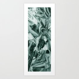 Green Abstract Eagle Nest Art Print