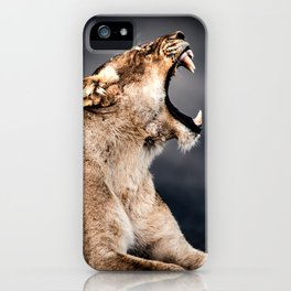 Growling Lioness iPhone Case