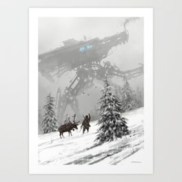 1920 - winter walker Art Print