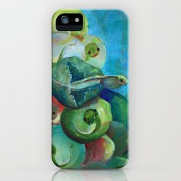 Fearfully & Wonderfully Made Frog emerging from egg iPhone Case