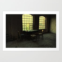 pause of ghosts Art Print