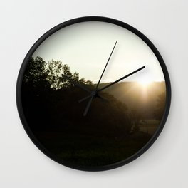 Into The Valley Wall Clock