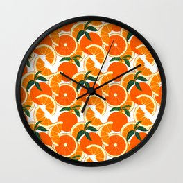 Orange Harvest - White Wall Clock