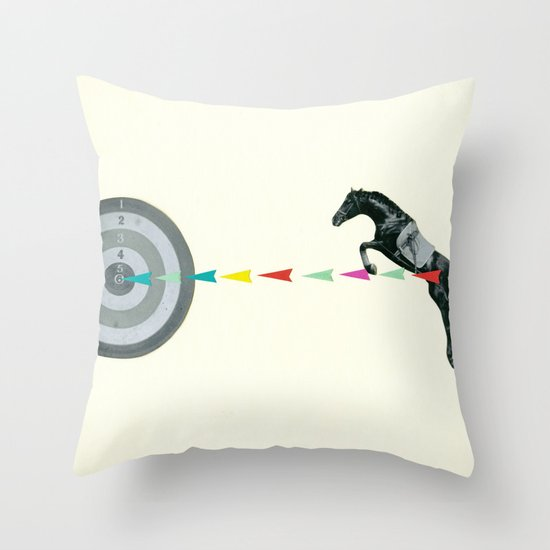 On Target : Sagittarius Throw Pillow by Cassia Beck Society6