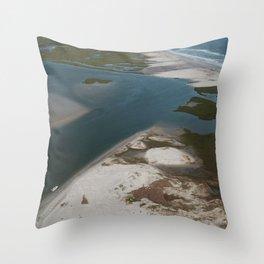 Lea-Hutaff Island | Rich's Inlet | Wilmington NC Throw Pillow