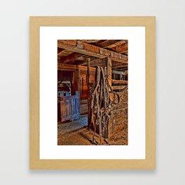 Draft Horse Harness Framed Art Print