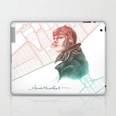 Amelia Earhart - Colourized Laptop & iPad Skin