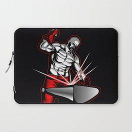 illustration of a blacksmith Laptop Sleeve