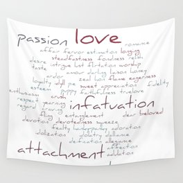 Love Word Cloud Wall Tapestry