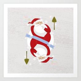 Christmas Card King Art Print