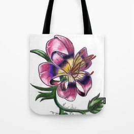 Exotic Lily Flower Tote Bag