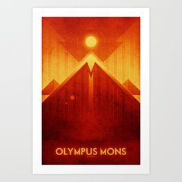 Mars - Olympus Mons Art Print