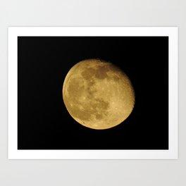 April Moon Rising Art Print