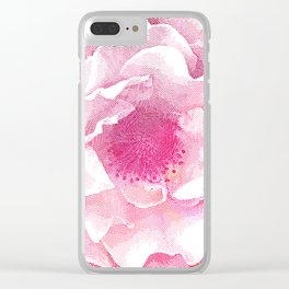 Etching Style Series_Modern Vintage Rose vol.3 Clear iPhone Case