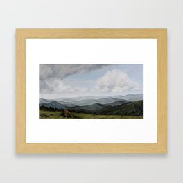 View from Round Bald Framed Art Print