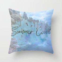 Summer Court Throw Pillow