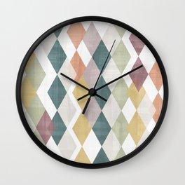 Rhombuses 2 Wall Clock