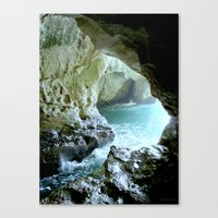 israel Canvas Prints featuring Israel Cave by Joyfully Green