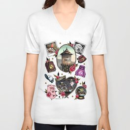 Gravity Falls Tattoos Unisex V-Neck